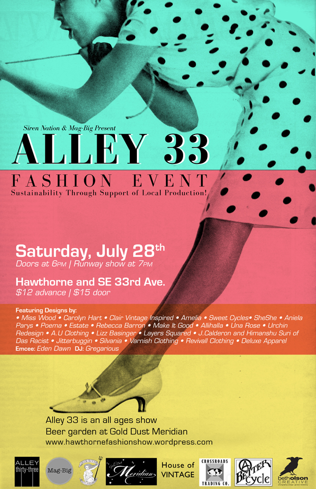 Alley 33 Fashion Event Poster | Beth Olson Creative